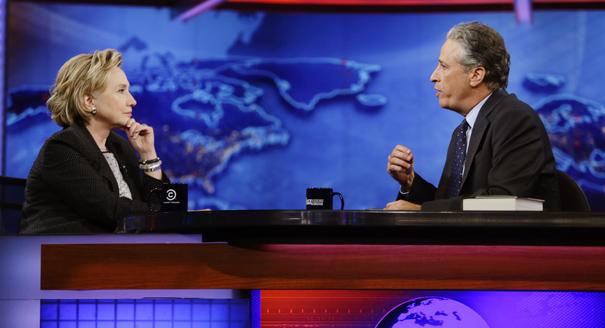 Hillary Rodham Clinton, Jon Stewart
