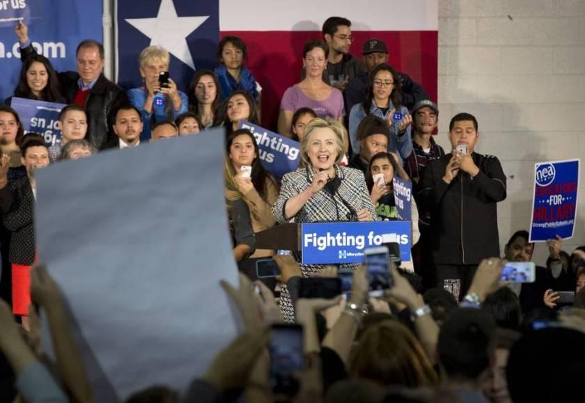 Hillary Clinton visits Dall