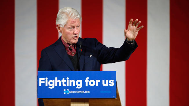 Bill Clinton appears at a New Hampshire event earlier this month.