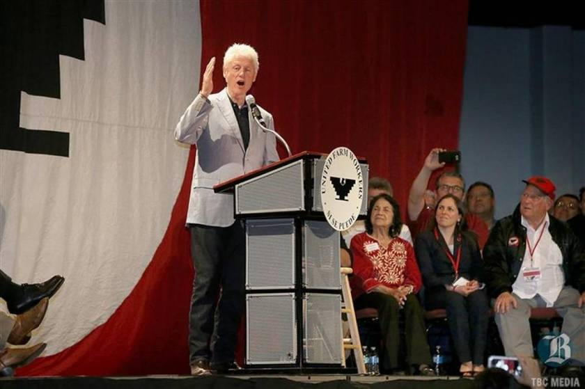 Former-President-Bill-Clinton-Campaigns-For-Hillary-At-The-UFW-Convention10