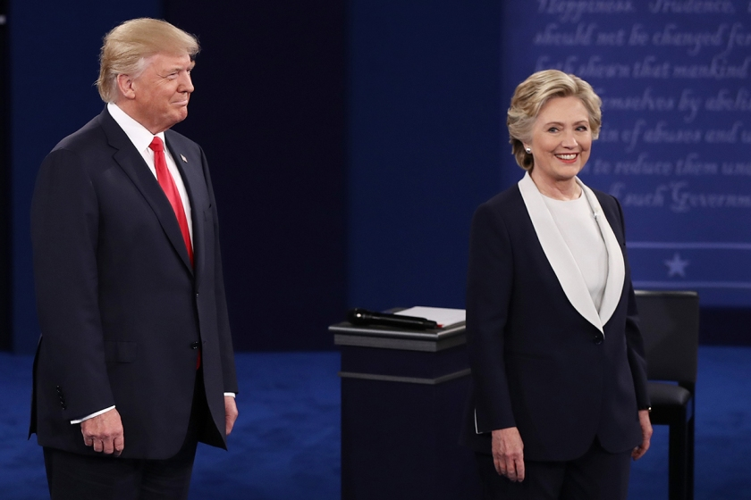 hillary-clinton-donald-trump-debate-getty-images-man-repeller