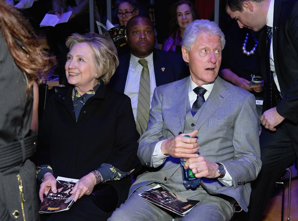 Hilary Clinton and Bill Clinton attend The Nearness Of You Benefit Concert at Jazz at Lincoln Center on January 25, 2017 in New York City.